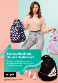 Gazetka promocyjna EMPiK - Plecaki w sklepach EMPiK - ważna do 01-09-2020