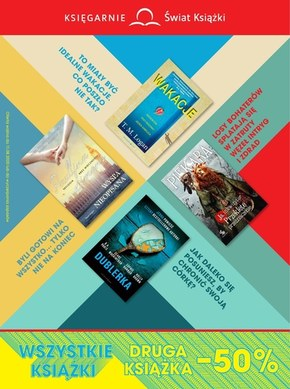Wszystkie książki -50% w Księgarniach Świat Książki