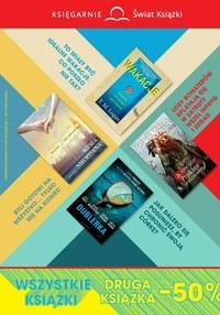 Gazetka promocyjna Księgarnie Świat Książki - Wszystkie książki -50% w Księgarniach Świat Książki - ważna do 11-08-2020