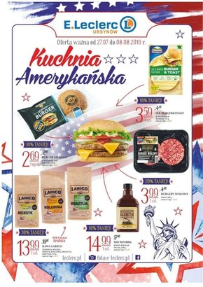 Kuchnia amerykańska w E.Leclerc Urysnów