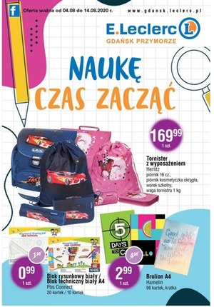 Gazetka promocyjna E.Leclerc - Naukę czas zacząć z E.Leclerc Gdańsk!
