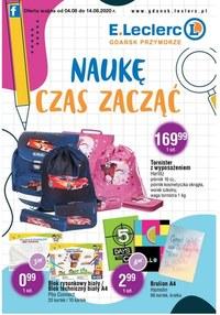 Gazetka promocyjna E.Leclerc - Naukę czas zacząć z E.Leclerc Gdańsk!  - ważna do 14-08-2020