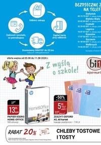 Gazetka promocyjna bi1 - Bi1 z myślą o szkole!  - ważna do 11-08-2020