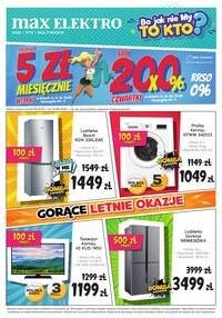 Gazetka promocyjna Max Elektro - Gorące letnie okazje w Max Elektro!  - ważna do 31-08-2020