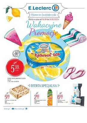 Wakacyjne promocje w E.Leclerc Ostrowiec Świetokrzyski