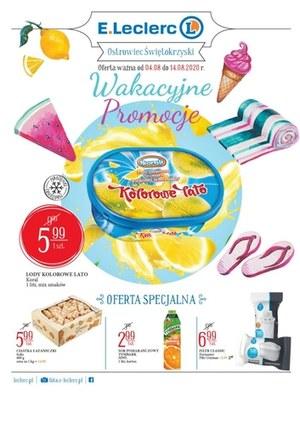 Gazetka promocyjna E.Leclerc - Wakacyjne promocje w E.Leclerc Ostrowiec Świetokrzyski