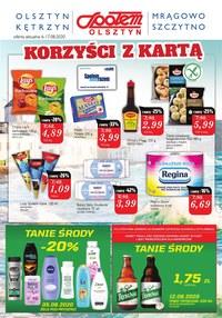 Gazetka promocyjna Społem Olsztyn - Tanie środy w Społem Olsztyn! - ważna do 17-08-2020