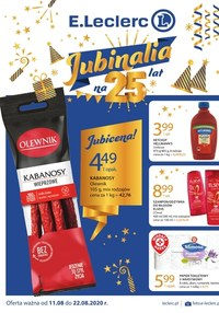 Gazetka promocyjna E.Leclerc - E.Leclerc - Jubinalia - ważna do 22-08-2020