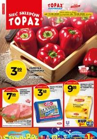 Gazetka promocyjna Topaz - Każdy dzień z uśmiechem w Topaz! - ważna do 19-08-2020