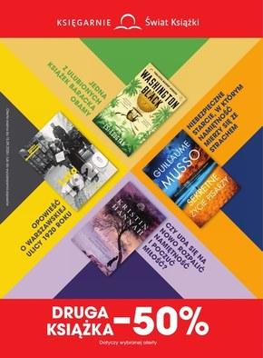 Księgarnie Świat Książki - druga książka 50% taniej