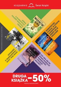 Gazetka promocyjna Księgarnie Świat Książki - Księgarnie Świat Książki - druga książka 50% taniej - ważna do 15-09-2020