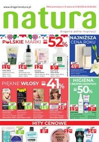 Gazetka promocyjna Drogerie Natura - Piękne włosy i polskie marki w Drogerii Natura - ważna do 26-08-2020