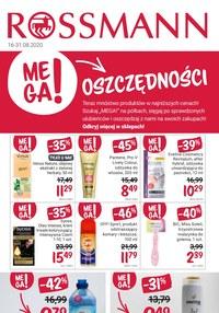 Gazetka promocyjna Rossmann - Oszczędności w Rossmannie! - ważna do 31-08-2020