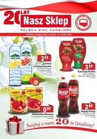 Gazetka promocyjna Nasz Sklep - Urodziny sieci Nasz Sklep - ważna do 22-08-2020
