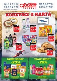 Gazetka promocyjna Społem Olsztyn - Korzyści w Społem Olsztyn! - ważna do 31-08-2020