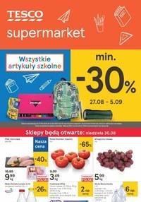 Gazetka promocyjna Tesco Supermarket - Super promocje na artykuły szkolne w Tesco! - ważna do 02-09-2020