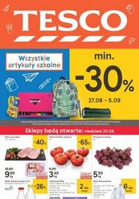 Gazetka promocyjna Tesco Centra Handlowe - Promocje na artykuły szkolne w Tesco! - ważna do 02-09-2020