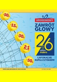 Gazetka promocyjna Makro Cash&Carry - Urodzinowe promocje w Makro - ważna do 14-09-2020