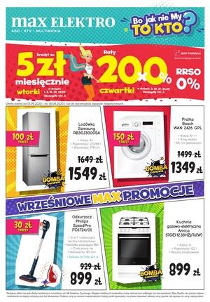 Gazetka promocyjna Max Elektro - Wrześniowe promocje w Max Elektro!