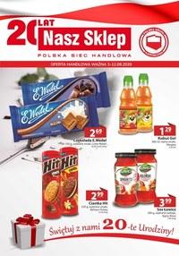 Gazetka promocyjna Nasz Sklep - Świętuj z Nasz Sklep! - ważna do 12-09-2020