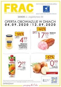 Gazetka promocyjna FRAC - Oferta handlowa FRAC Sanok! - ważna do 12-09-2020