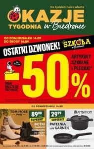 Ostatni dzwonek -50% w Biedronce!