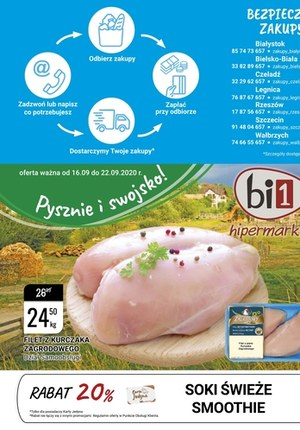 Gazetka promocyjna bi1 - Pyszne i swojskie w Bi1!