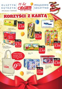 Gazetka promocyjna Społem Olsztyn - Same korzyści z kartą PSS Olsztyn! - ważna do 28-09-2020