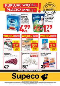Gazetka promocyjna Supeco - Kupując więcej w Supeco, płacisz mniej! - ważna do 28-09-2020