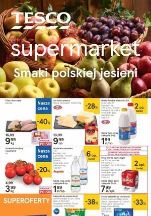 Gazetka promocyjna Tesco Supermarket - Smaki jesieni w sklepach Tesco Supermarket!