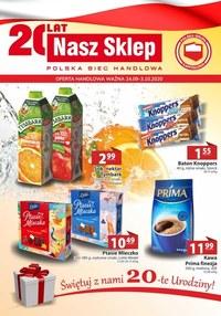 Gazetka promocyjna Nasz Sklep - Nasz Sklep - oferta handlowa - ważna do 03-10-2020