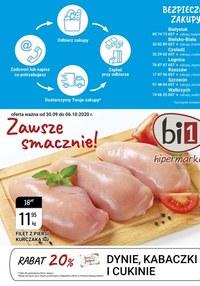 Gazetka promocyjna bi1 - bi1 - zdrowo, tanio, z pasją - ważna do 06-10-2020
