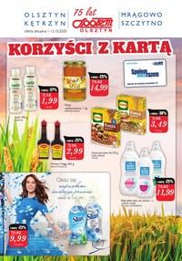 Gazetka promocyjna Społem Olsztyn - Korzystaj z promocji w Społem Olsztyn! - ważna do 12-10-2020