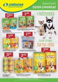 Gazetka promocyjna Lewiatan - Światowy dzień zwierząt z Lewiatanem - ważna do 10-10-2020