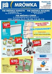 Gazetka promocyjna PSB Mrówka - PSB Mrówka Czersk - ważna do 17-10-2020