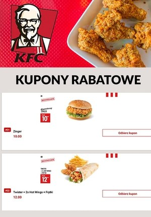 Gazetka promocyjna KFC - Kupony i rabaty w KFC!