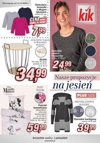 Gazetka promocyjna KIK - Ciekawe propozycje na jesień w Kiku! - ważna do 23-12-2020
