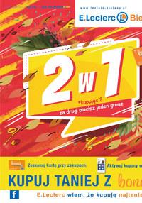 Gazetka promocyjna E.Leclerc - Jesienne promocje 2 w 1 w E.leclerc Bielany