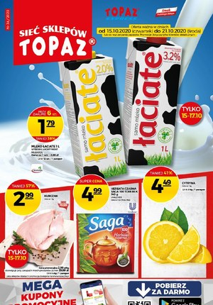 Gazetka promocyjna Topaz - Rabaty i promocje w Topaz