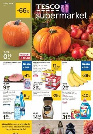 Gazetka promocyjna Tesco Supermarket - Promocje jesienne w Tesco Supermarket!