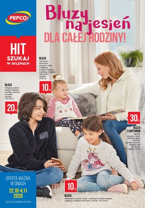 Gazetka promocyjna Pepco - Bluzy na jesień dla całej rodziny w Pepco!