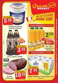 Gazetka promocyjna Gram Market - Promocje w sklepach Gram Market - ważna do 27-10-2020