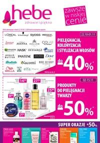 Gazetka promocyjna Hebe - Produkty do włosów -40% w Hebe! - ważna do 04-11-2020