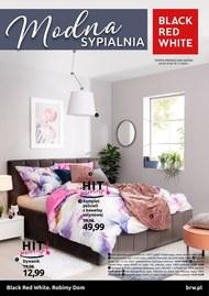 Modna sypialnia w Black Red White