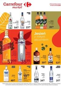 Gazetka promocyjna Carrefour Market - Promocje na alkohole w Carrefour Market! - ważna do 21-11-2020