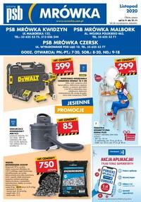 Gazetka promocyjna PSB Mrówka - PSB Mrówka Czersk, Kwidzyn, Malbork - ważna do 21-11-2020