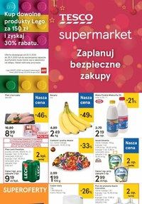 Gazetka promocyjna Tesco Supermarket - Zaplanuj bezpieczne zakupy z Tesco Supermarket - ważna do 25-11-2020