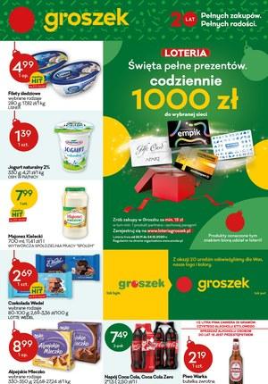 Gazetka promocyjna Groszek  - Święta pełne prezentów - Groszek!