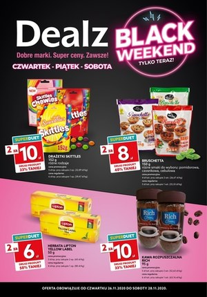 Gazetka promocyjna Dealz - Black Weekend sklepach Dealz!