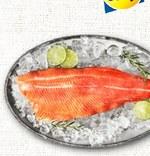 Łosoś Targ rybny Lidla